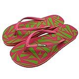 It's Me | Flip Flops, Größe 40-42, Farbe Pink/Grün| Jetzt Natur Kautschuk | Rutschfest | Superweich | Fühle Den Unterschied!