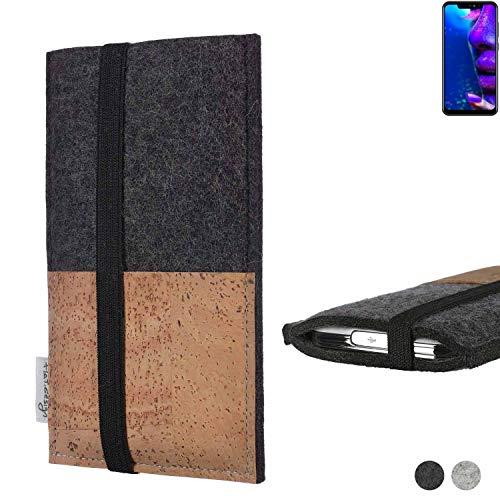 flat.design Handy Hülle Sintra für Allview Soul X5 Pro Handytasche Filz Tasche Schutz Kartenfach Case Natur Kork