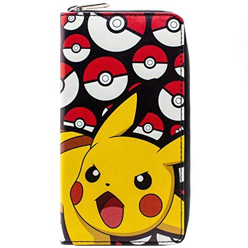 Pokemon Pikachu Pokeball Schwarz Portemonnaie ()