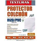 BASIC HOME by TEXTURAS Protector COLCHÓN Rizo/PVC Impermeable ...