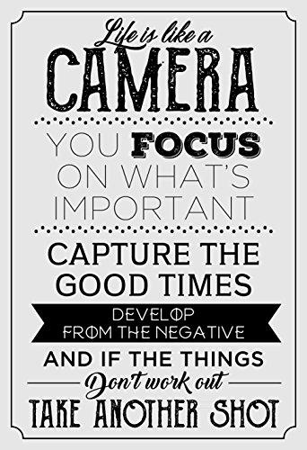 Life is like a Camera Motivierendes Zitat Poster 33x 48,3cm motivieren selbst positiven Geist Inspirierende Decor ideal für Schule Gym Büro Staff College Sportler Team Schule Klassenzimmer und Home