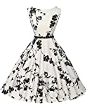 Damen vintage retro rockabilly kleid festliches kleid swing dress for women partykleid Größe S CL6086-11