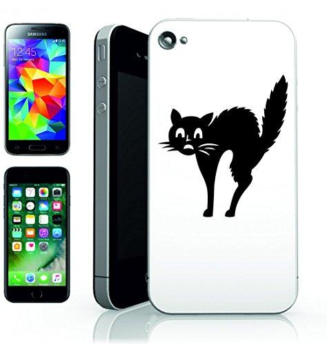 Smartphone Case Paura di animale di gatto domestico del gattino gatto remeras di raffreddamento silhouette della sorpreso per Apple Iphone 4/4S, 5/5S, 5C, 6/6S, 7& Samsung Galaxy S4, S5, S6, S6Ed