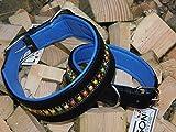 Lederhalsband Rainbow Halsband Leder extra Breit Tysons Hundehalsband gr. Hund M L XL 4 5,5 6,5 Breite (M)