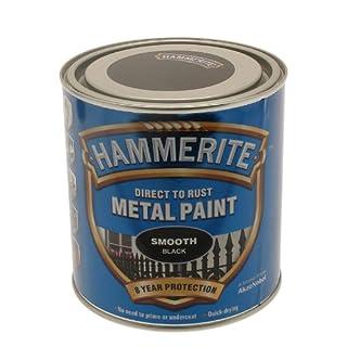 Hammerite 5084866 Metal Paint: Smooth Black 2.5Ltr