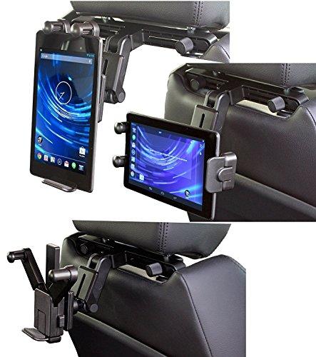 Navitech Schwarze Tablet PC Auto Kopfstützen / Rücksitz Erweiterbare Feste Griff Montierung Für Das BUSH DVD8791CUK 7