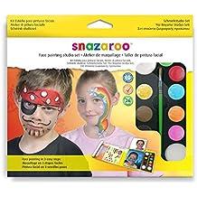 Snazaroo - Set estudio de pintura facial con guía en 3 pasos