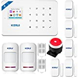 KERUI W18 Wireless WIFI GSM Burglar Home Security Alarm System DIY Kit IOS/Android APP Control with Auto Dial White