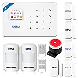 KERUI W18 Wireless 2.4G WIFI+GSM Burglar Home Security Alarm System DIY Kit IOS/Android APP Control with Auto Dial White