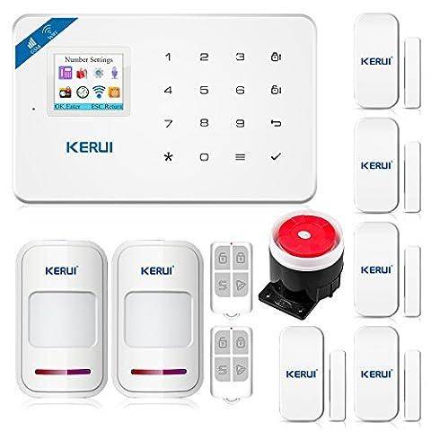 KERUI W18 Wireless 2.4G WIFI+GSM Burglar Home Security Alarm System DIY Kit IOS/Android APP Control with Auto Dial