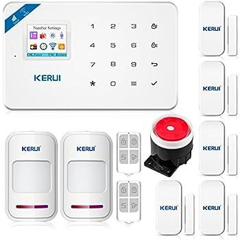 KERUI W18 Wireless 2.4G WIFI+GSM Burglar Home Security Alarm System DIY Kit  IOS/Android APP Control With Auto Dial White