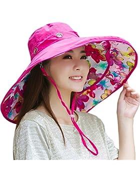 Sombrero de Sol Extraíble Con Borde Grande Para Gorra Sombrero de Cubo Solar Reversible de Playa UPF 50+