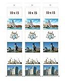 3 Fototaschen 10 x 15 für 6 Fotos Querformat Fotohalter Foto Bilder Karten Halter Fotowand Kartenhalter