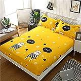 Protector de colchón Impermeable - Cubre colchón Transpirable e hipoalergénica - Funda de colchón Super Suave,Cama de niño Individual Hamster 1mX2m