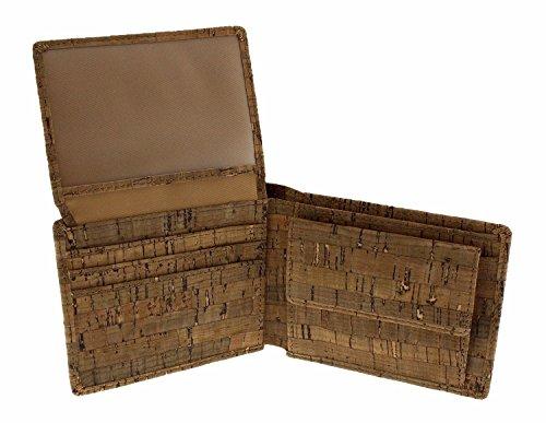 Kork Geldbeutel Vintage, Geldbeutel aus Kork, Korkgeldbeutel (Deluxe) -