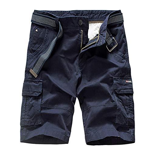 Aiserkly Herren Cargo Shorts Gürtel Hose Arbeitshose Pocket Flachgewebe Hose Jogginghose Kurze Sommer - Herren Rs Fahrrad Short
