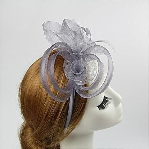 ADMKK Europäische und amerikanische Art und Weise High-End-Custom prom Haar-Accessoires-Boutique-Fotografien zeigen Bankett Brautschleier Hut Kopfschmuck ( Color : A )