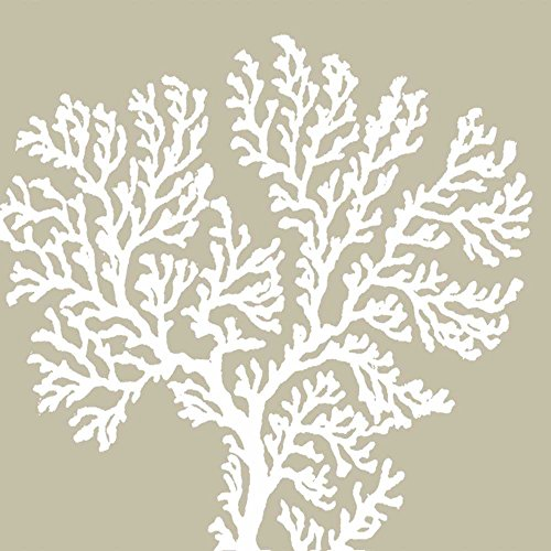 Paperproducts Design Design 1252002Hohe Qualität Getränk/Cocktail Riviera Coral taupe Papier Servietten (20Stück), multicolor