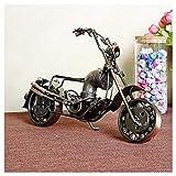 GWModel Vintage Big Motorrad Modell Handarbeit Eisen Kunst Antike Modell Fahrzeug Sammlung Home Desktop Retro Metall Deko Kreative Persönlichkeit Ornament Hochwertiges Geschenk
