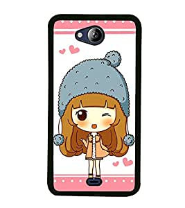 Fuson Premium 2D Back Case Cover Cute baby With red Background Degined For Micromax Canvas Play Q355