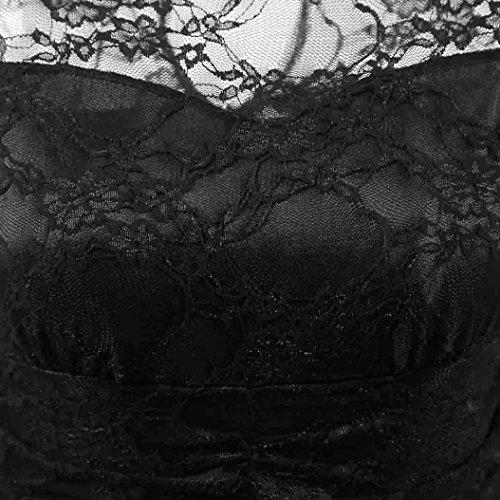 Homebaby 3/4 Manica Vestiti Donna Eleganti - Vintage Estivi Vestiti Casual Donna - Pizzo Abito Abiti Donna Vestiti Estate Abiti Maniche Eleganti Abiti Da Cerimonia Nero