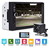 Xgody Double Din Car Stereo Mirror Link für Android Phone 7018B 7 Inch Touch Screen inDash MP5 Audio Video Player Support USB/AUX-in/TF/FM Radio Receiver mit Rear View Kamera und Remote Control