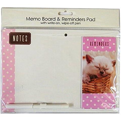 Lavagna magnetica con messaggio promemoria Pad e penna–Gattino, misura 264mm x 185mm
