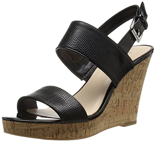 Nine West Lucini pompa Wedge sintetico Black/black