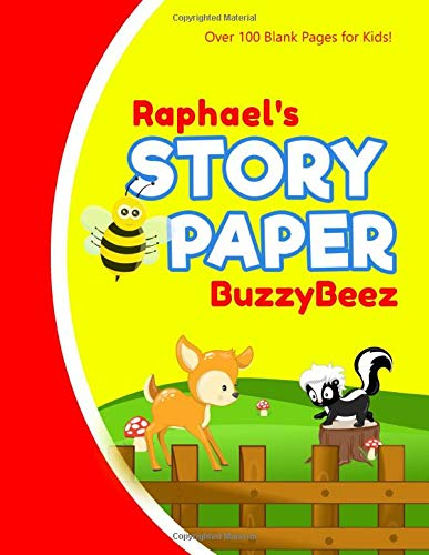 Raphael: Story Book | Kids Large Blank Pre-K Primary Draw & Write Storybook Handwriting Paper | Drawing Tale Writing Practice Pages for Boys | Use ... Farm Farmland | Personalized Name Initial R