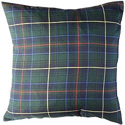 Escoces Verde - cojin decorativo - cojin rojo - cojin cama - cojin clasico - wiki pillow - 50x50cm.