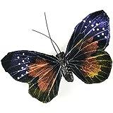 """Butterfly On Clip 4.75"""" 1/Pkg-Purple"""