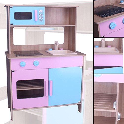 Preisvergleich Produktbild habeig® Kinderküche #783 Spielküche Küche Holzküche Kinder Holzspielzeug rosa blau