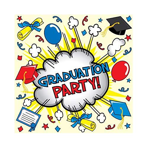 OERJU 1,5x1,5m Abschluss Hintergrund Abschlussfeier Bachelor Cap Ballon Diplom Hintergrund Studentenabschluss Abschlussball Banner Fotografie Produkt Requisiten