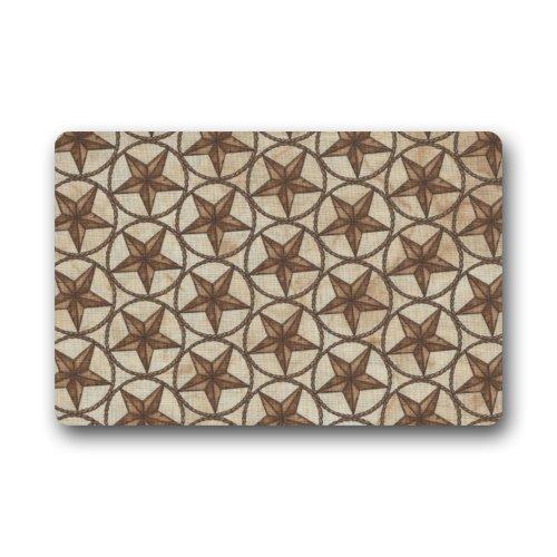deyhfef Western Texas Star Decorative Floor Mats Non-Slip Rubber Doormats Door Mat,23.6