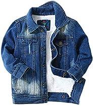 LAPLBEKE Chaqueta De Jeans Niños Chico Desgarrada Camisa De Jean