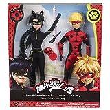 Bandai- Miraculous Ladybug- 2er Packung Ankleidepuppen Poupeflekta 26cm- Mister Bug und Lady...