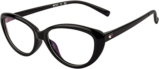 IRayz Full-Rim Cat-eye Frame Women's Spectacle Frame (Irz_2153|45|Black)