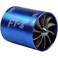 Ventilador doble de la turbina Ventilador del ahorrador Turbina de admisión de la modificación del coche cabida para el diámetro de la manguera de la entrada de aire 65-74m m - Matefielduk