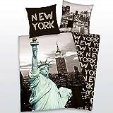 Kinderbettwäsche New York Freiheitsstatue 135x200 cm Mikrofaser