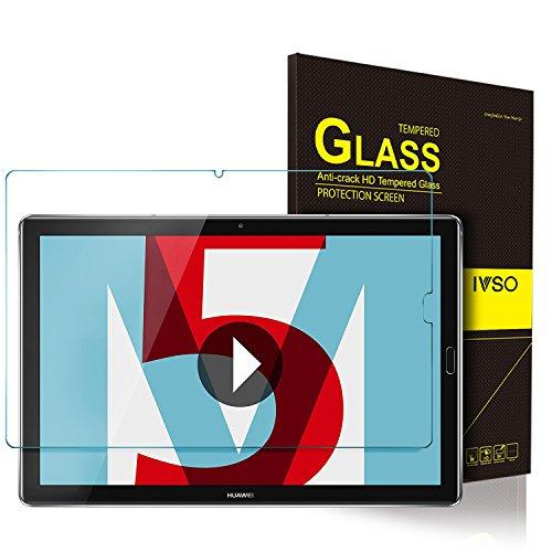 ELTD Huawei MediaPad M5 10.8 Protection écran, Dureté 9H, 2.5D Bords Arrondis Film Protection d'écran en Verre Trempé pour Huawei MediaPad M5 10.8 Pro / M5 10.8 2018 Tablette, (1-Pack)