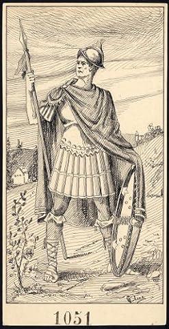 Posta Romana - ThePrintsCollector dessin Antique Motif Roman Soldier-poste 1051