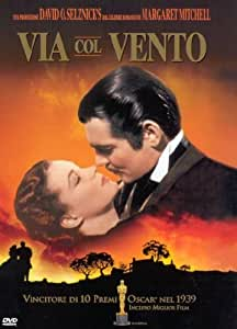 via col vento import italien clark gable vivien leigh leslie howard olivia de. Black Bedroom Furniture Sets. Home Design Ideas
