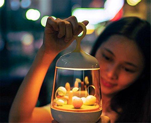 Preisvergleich Produktbild STEAM PANDA Micro-Landschaft Spieluhr Nachtlicht,  Lade Touch Timing Licht 7 Farbverlauf Geschenk-Assisted Beleuchtung,  Sky City