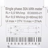 XCSOURCE LCD Display AC 50Hz Single Phase DIN-Rail Kilowatt Hour KWH Energy Meter 230V 30A BI042 Bild 5