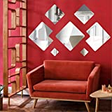 [Sponsored]{ LOOK DECOR } Decorative Wall Silver(pack Of 7)Acrylic Sticker, 3D Acrylic Sticker, 3D Mirror, 3D Acrylic Wall Sticker, 3D Acrylic Stickers For Wall, 3D Acrylic Mirror Stickers For Living Room, Bedroom, Kids Room, 3D Acrylic Mural For Home &am