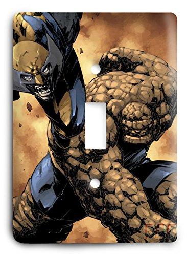 X-Men Fantastic Four Thing and Wolverine V4 Housse pour interrupteur