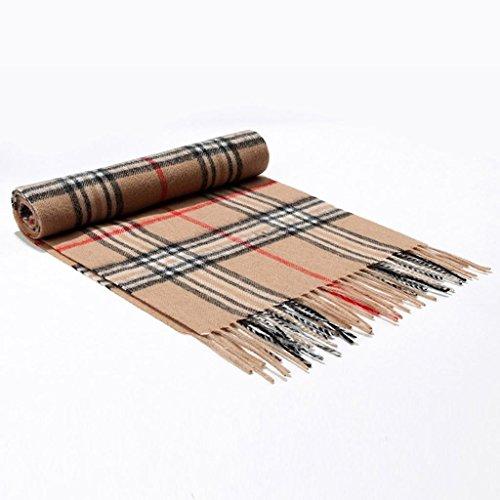 Donne Uomini cachemire sciarpa calda plaid morbida sciarpa calda con la scatola di regalo (32 (Scialle Pattern Maglia)
