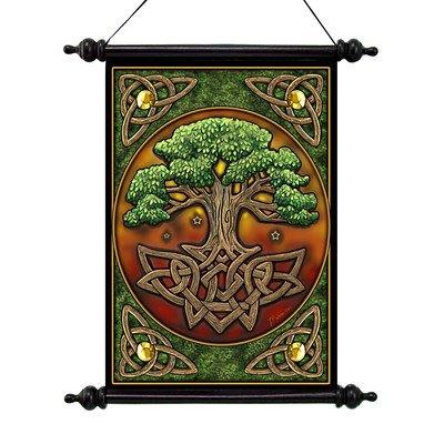 Design Toscano CL571304 Parchemin mural de l'Arbre de vie Multicolore 2,5 x 33 x 45,5 cm