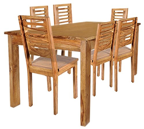 SNG Solid Wooden Six Seater Dining Table Set