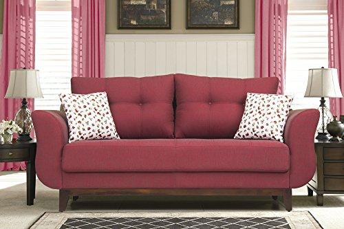 Peachtree Ibiza Maroon Fabric 3 Seater Sofa